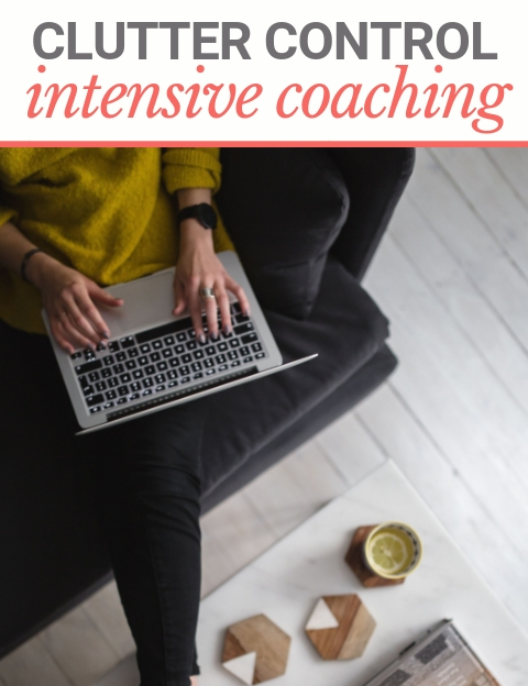 Woman is virtually coached in an uncluttered room